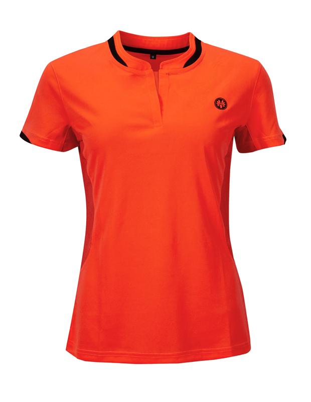 Womens Orange badminton squash shirts